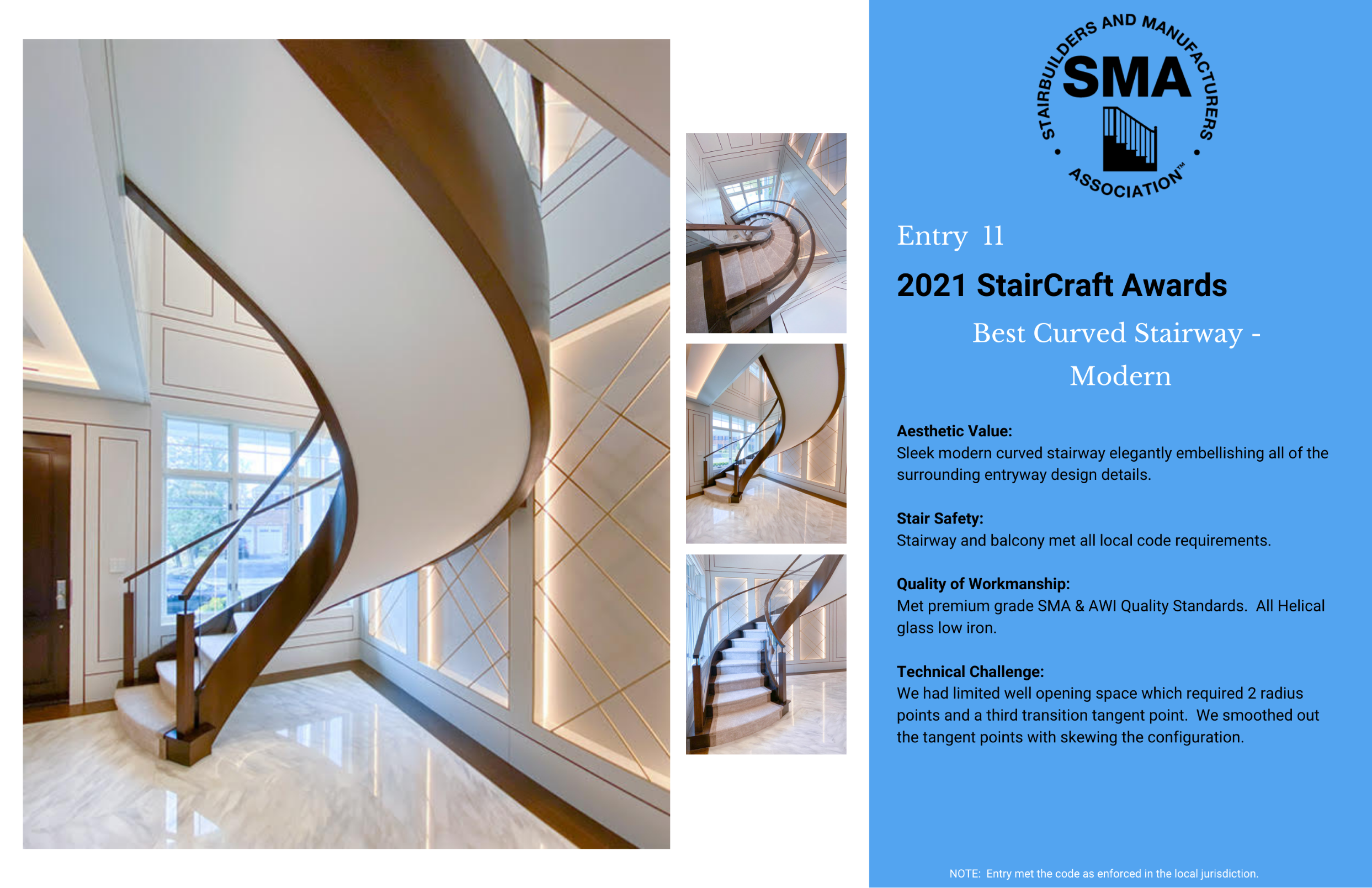2021 StairCraft Awards Entry 11