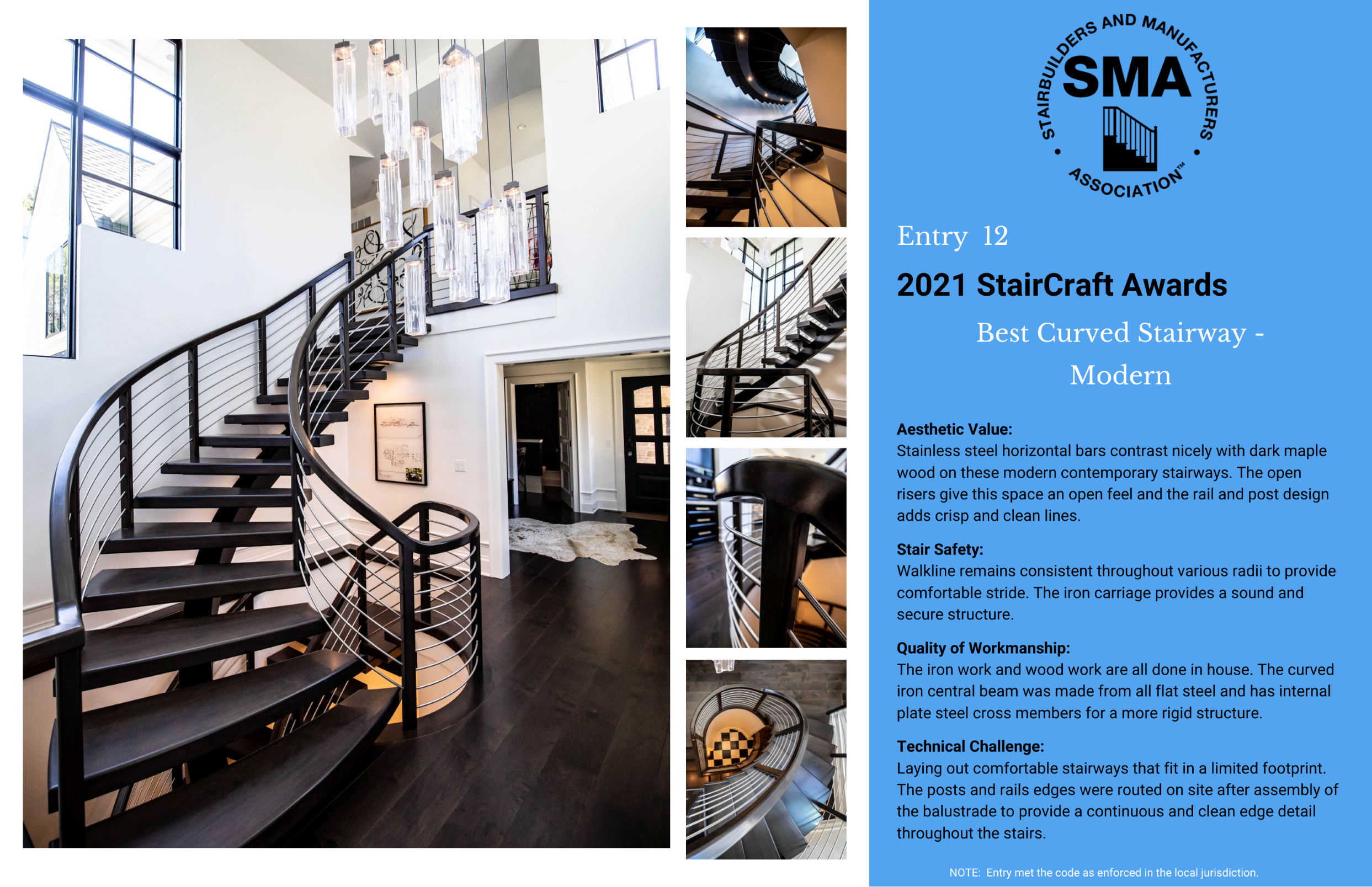2021 StairCraft Awards Entry 12