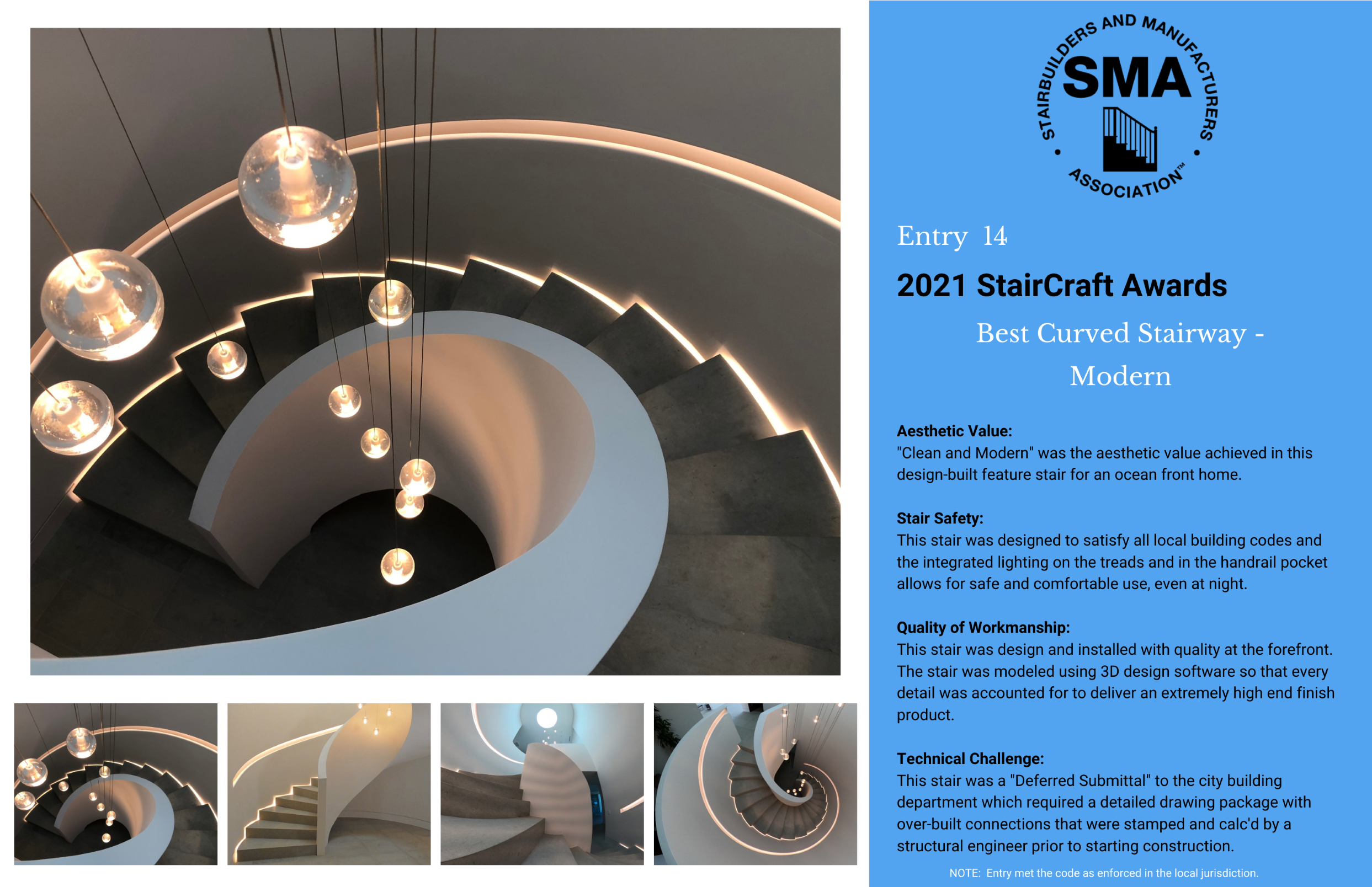2021 StairCraft Awards Entry 14