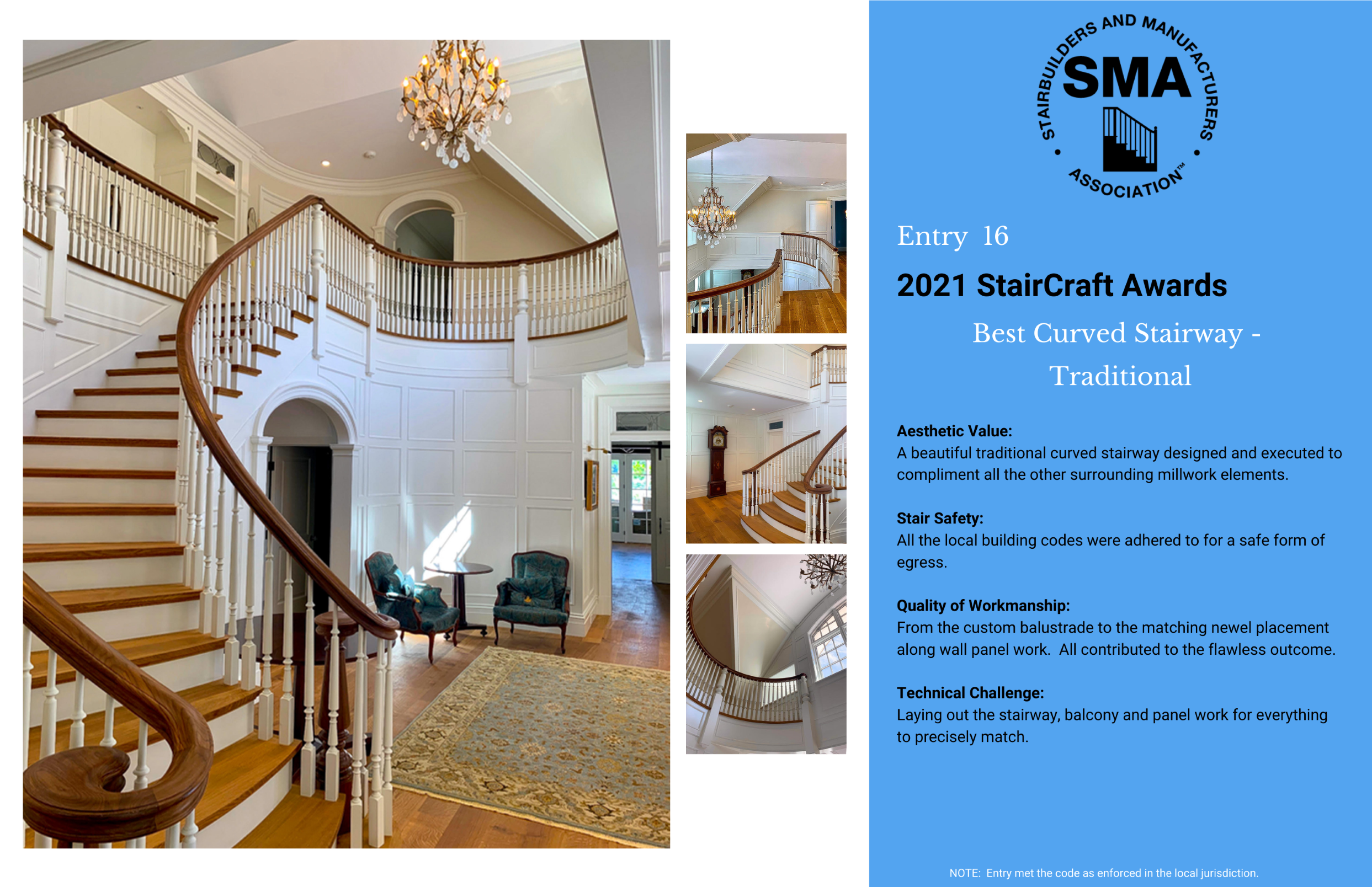 2021 StairCraft Awards Entry 16