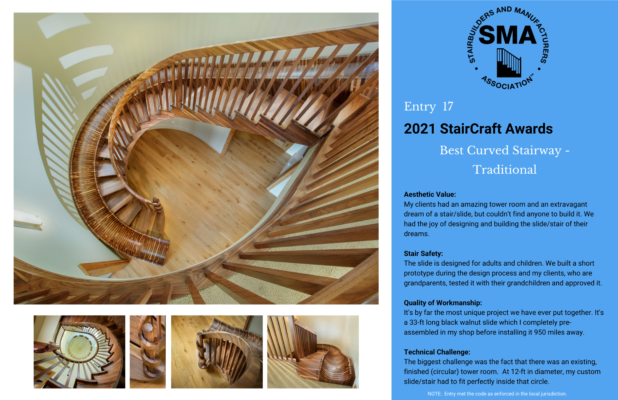 2021 StairCraft Awards Entry 17