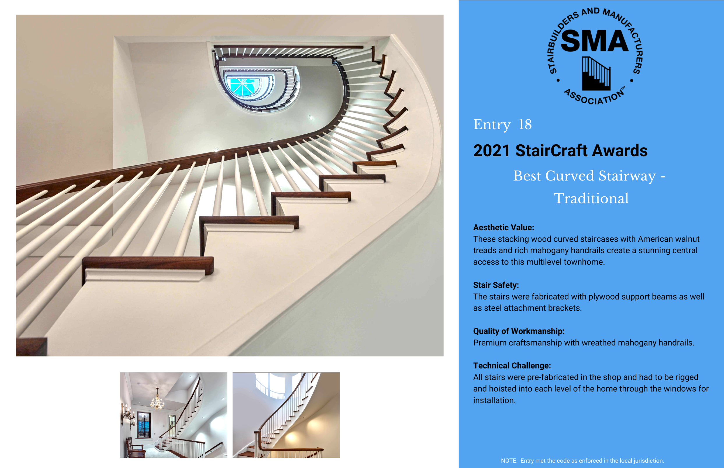 2021 StairCraft Awards Entry 18
