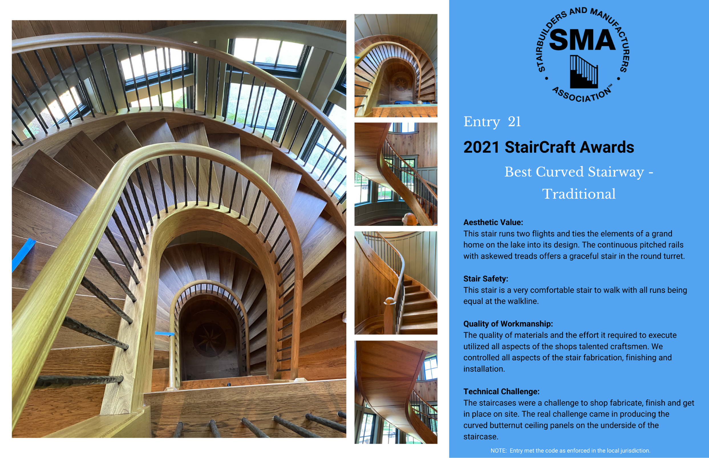 2021 StairCraft Awards Entry 21