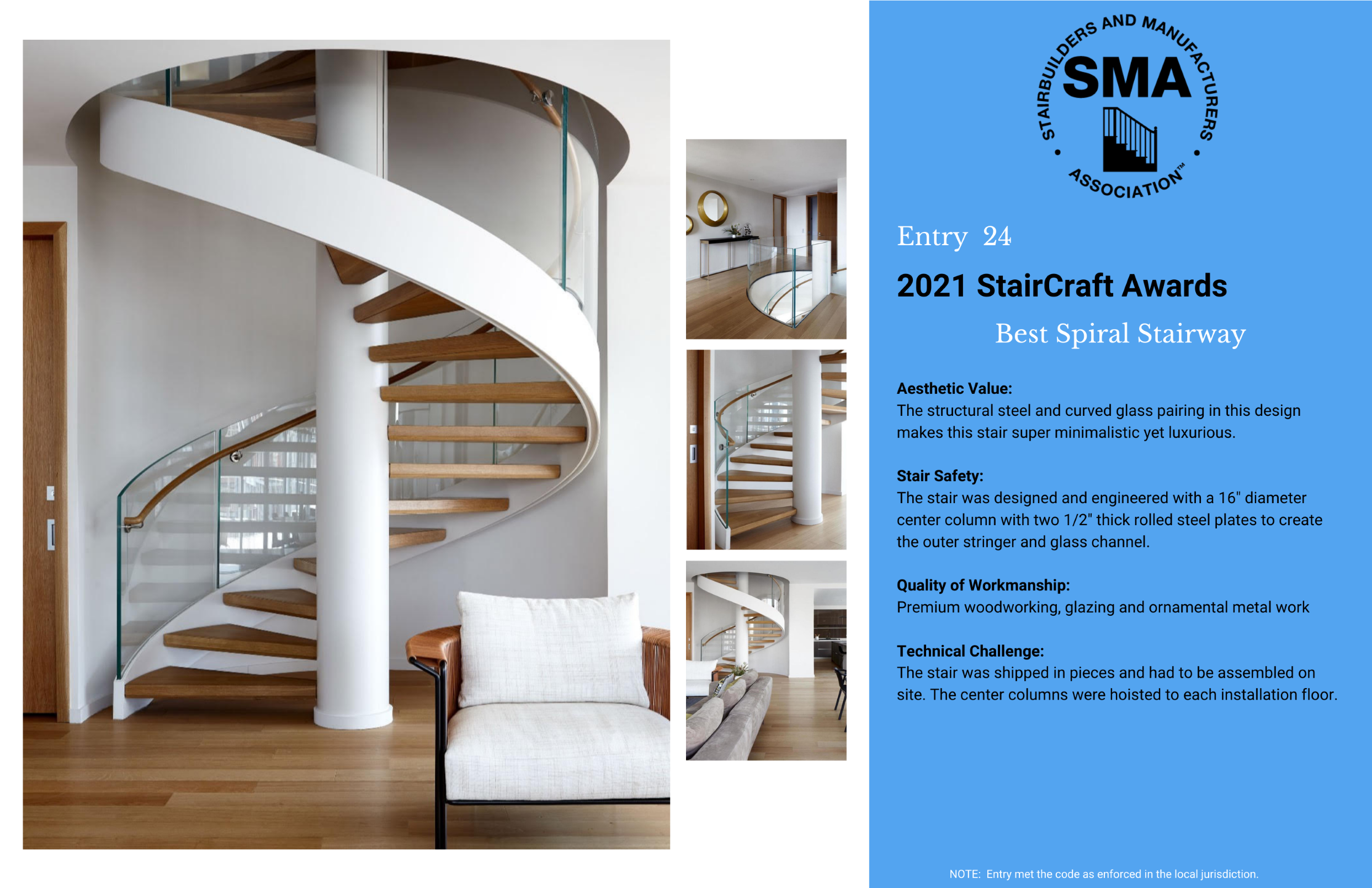 2021 StairCraft Awards Entry 24