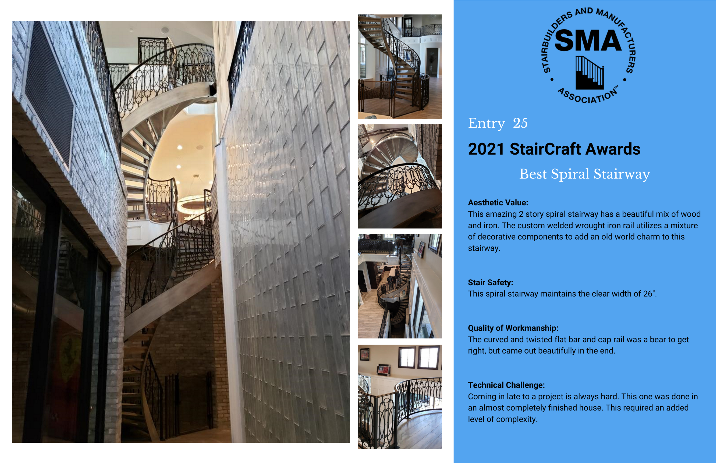 2021 StairCraft Awards Entry 25