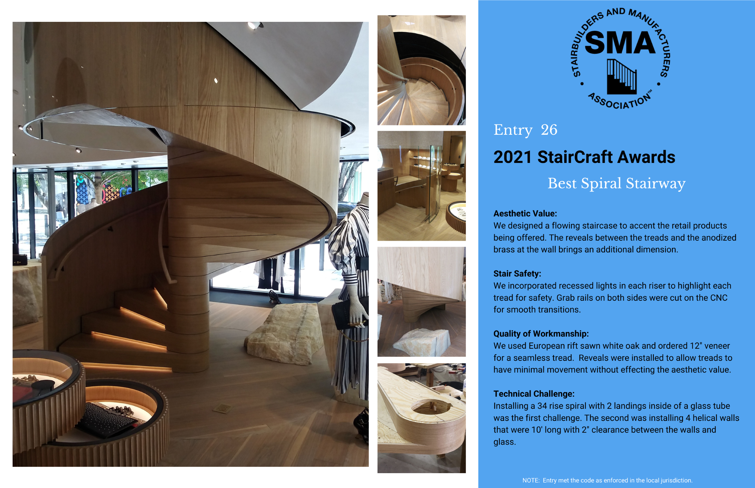 2021 StairCraft Awards Entry 26