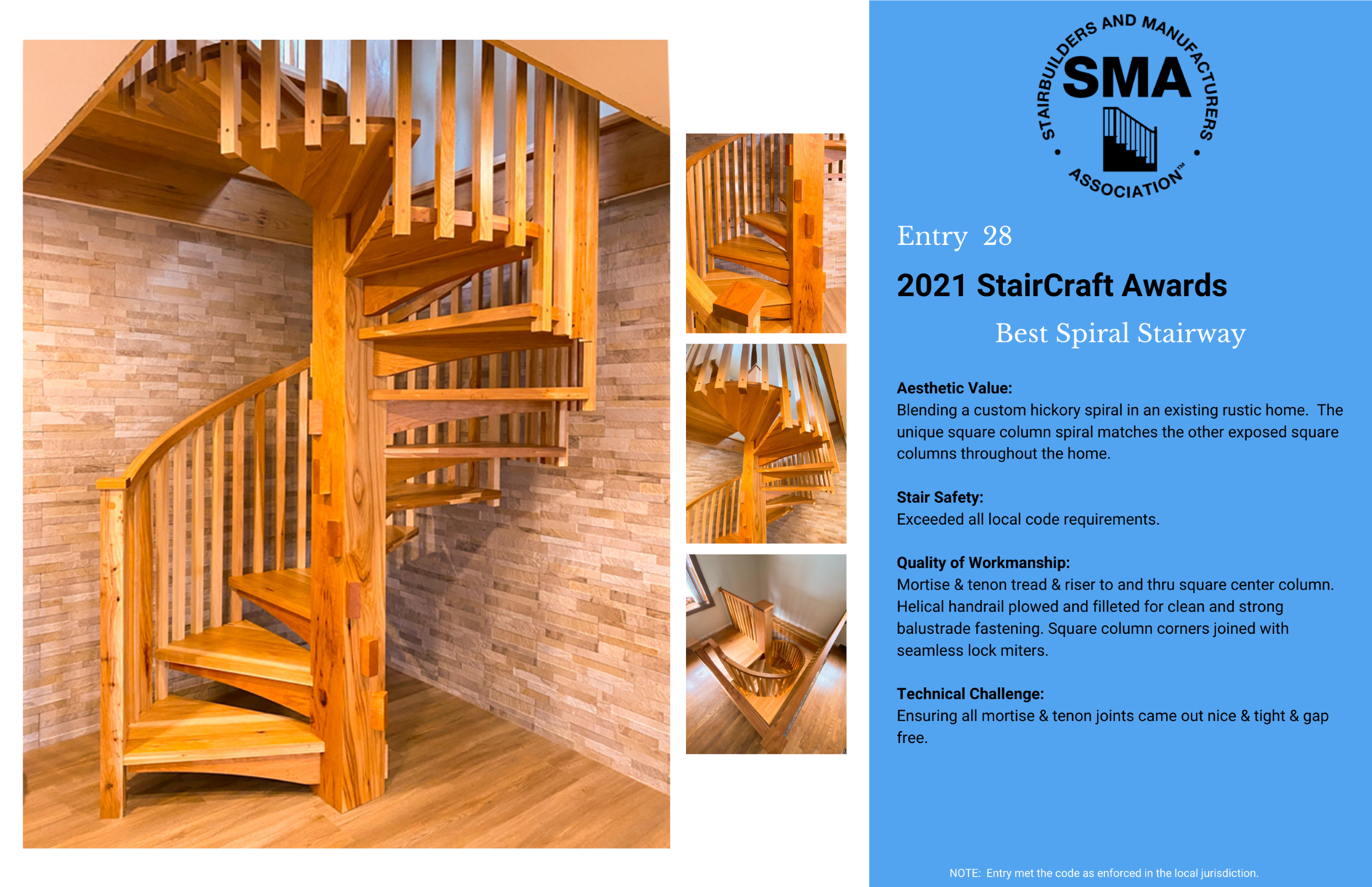 2021 StairCraft Awards Entry 28