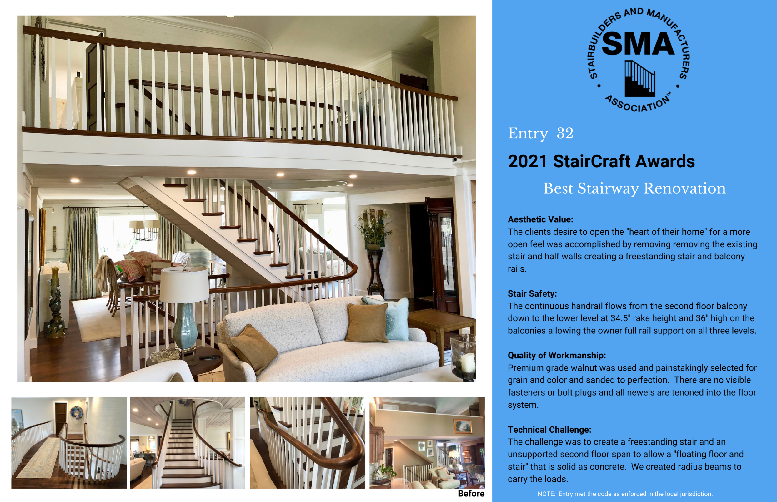 2021 StairCraft Awards Entry 32