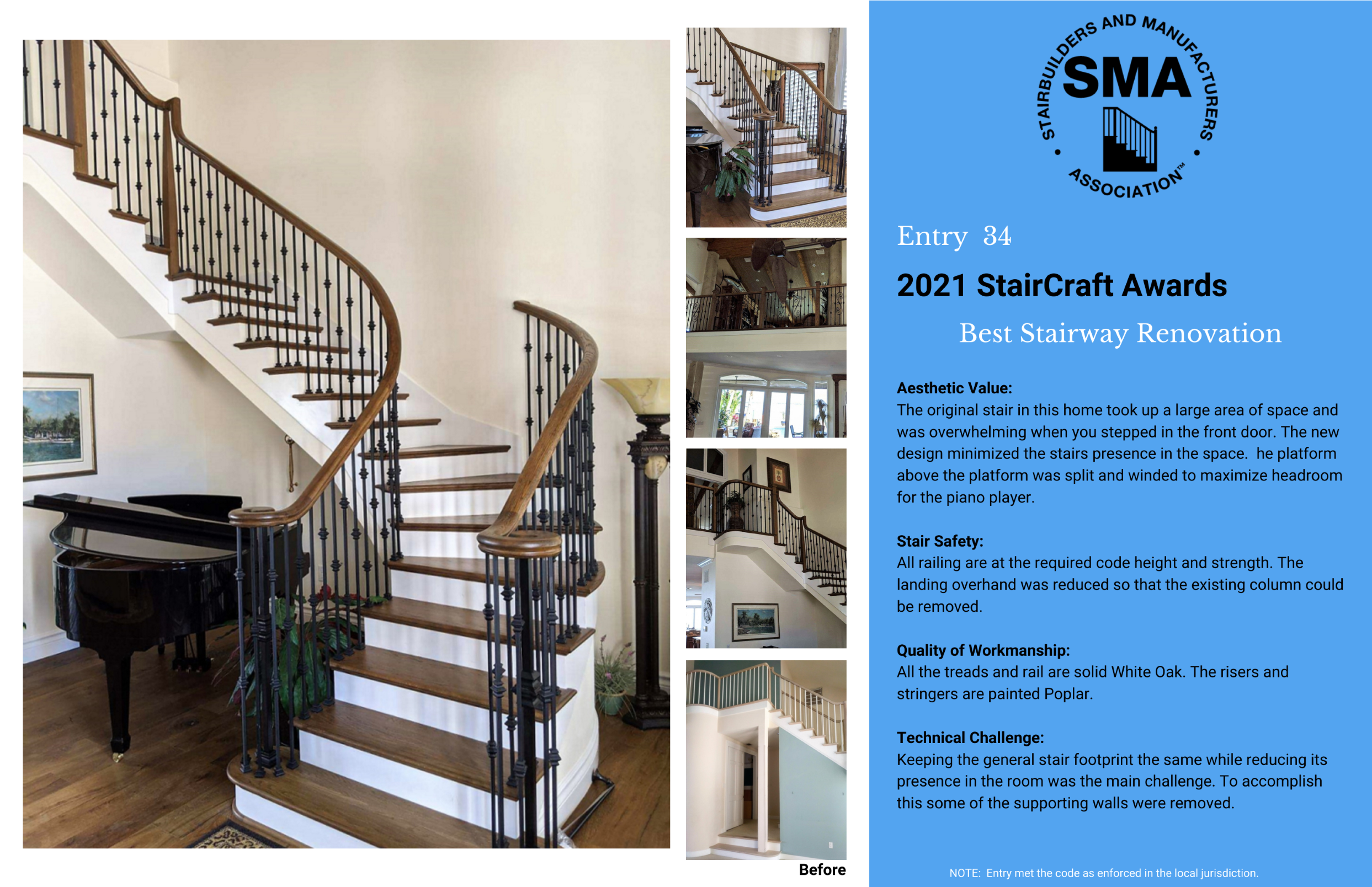 2021 StairCraft Awards Entry 34