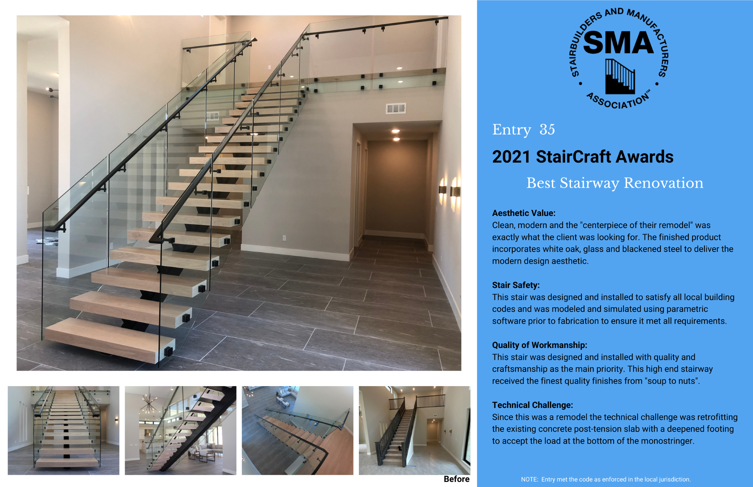 2021 StairCraft Awards Entry 35
