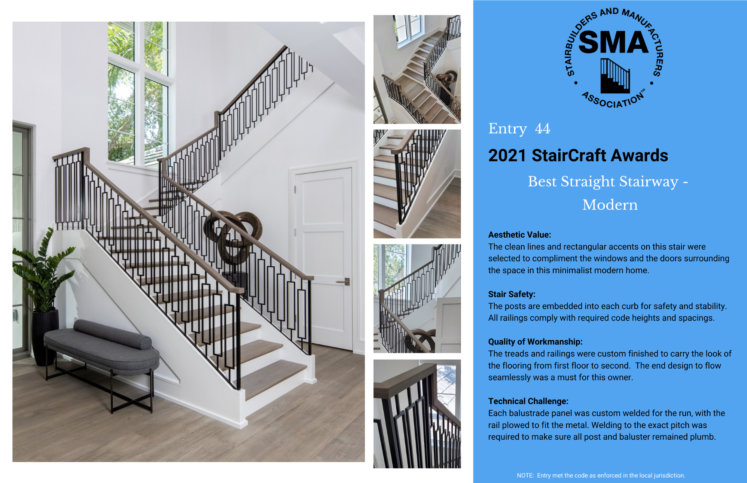 2021 StairCraft Awards Entry 44