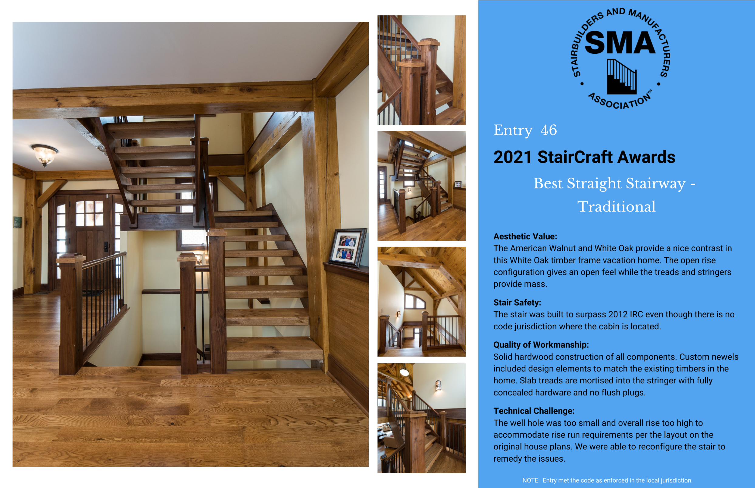2021 StairCraft Awards Entry 46