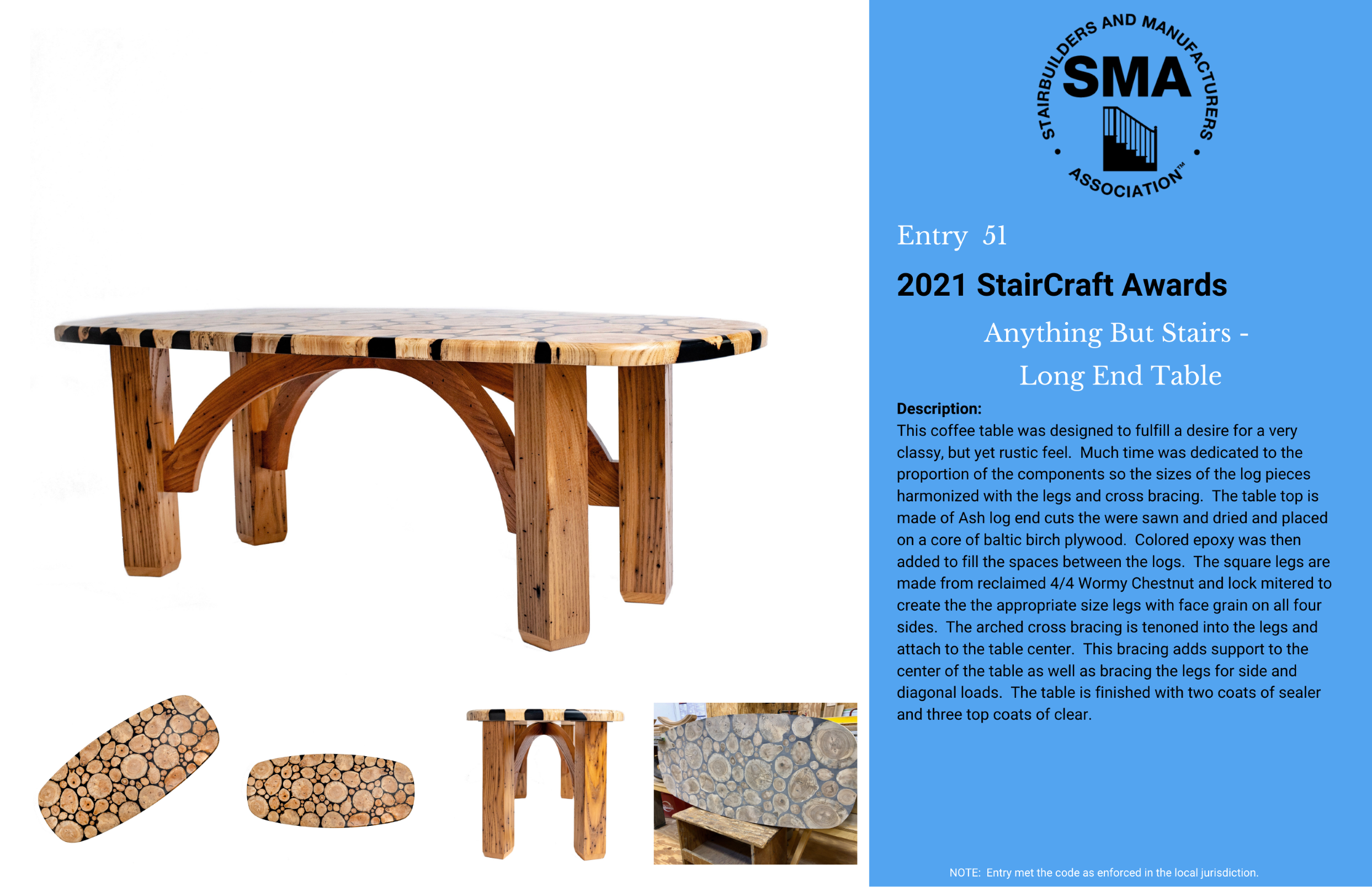 2021 StairCraft Awards Entry 51