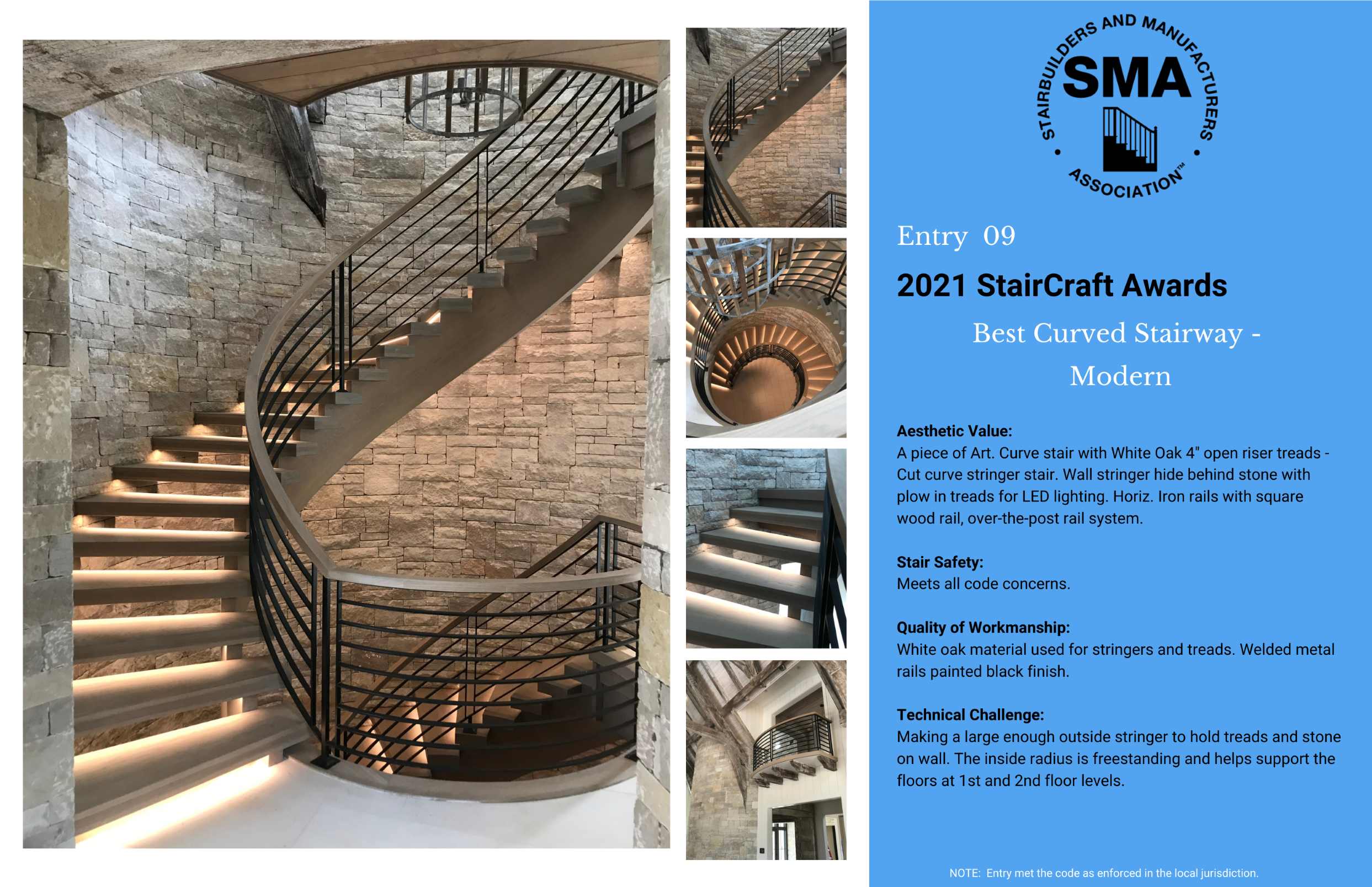 2021 StairCraft Awards Entry 9