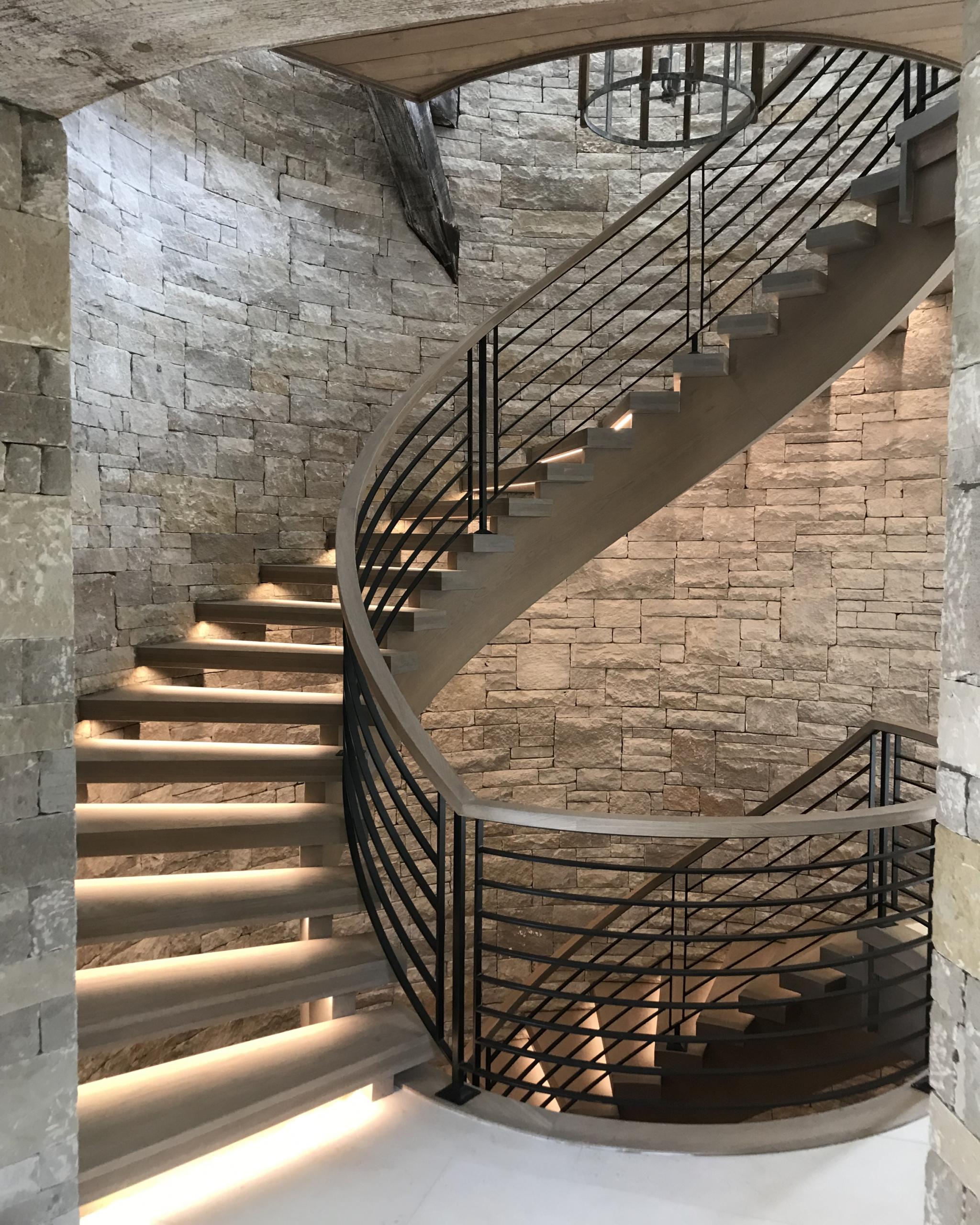 09 - Best Curved Stairway-Modern