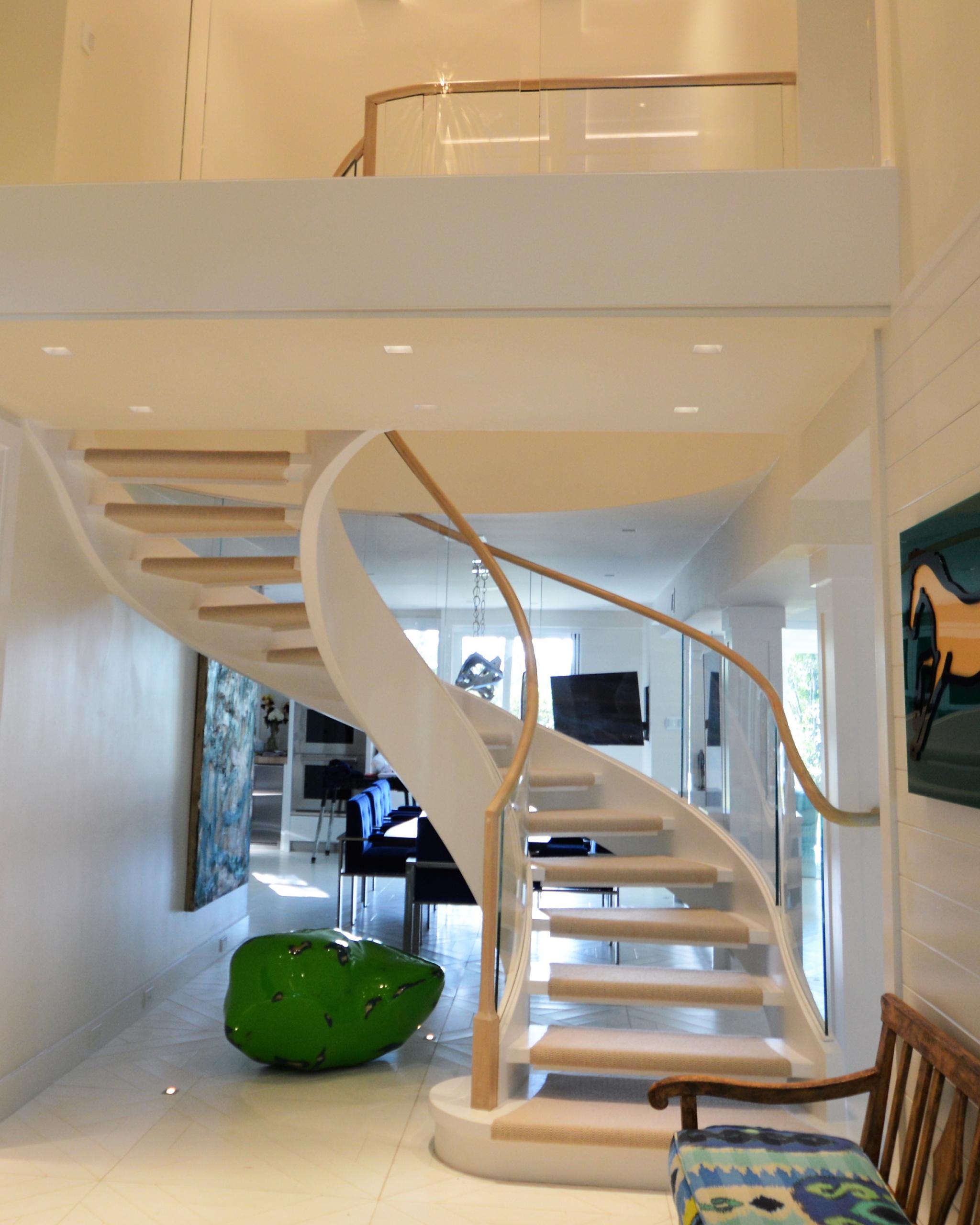 10 - Best Curved Stairway-Modern