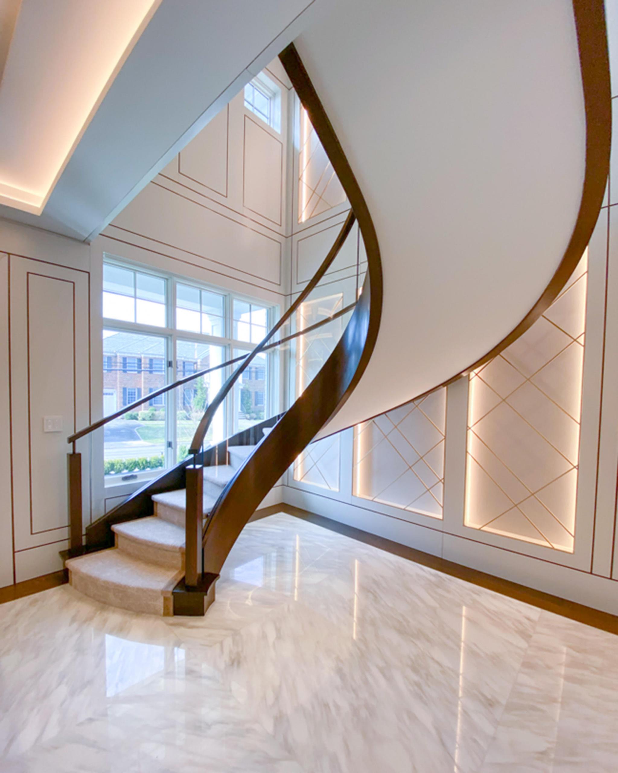 11 - Best Curved Stairway-Modern