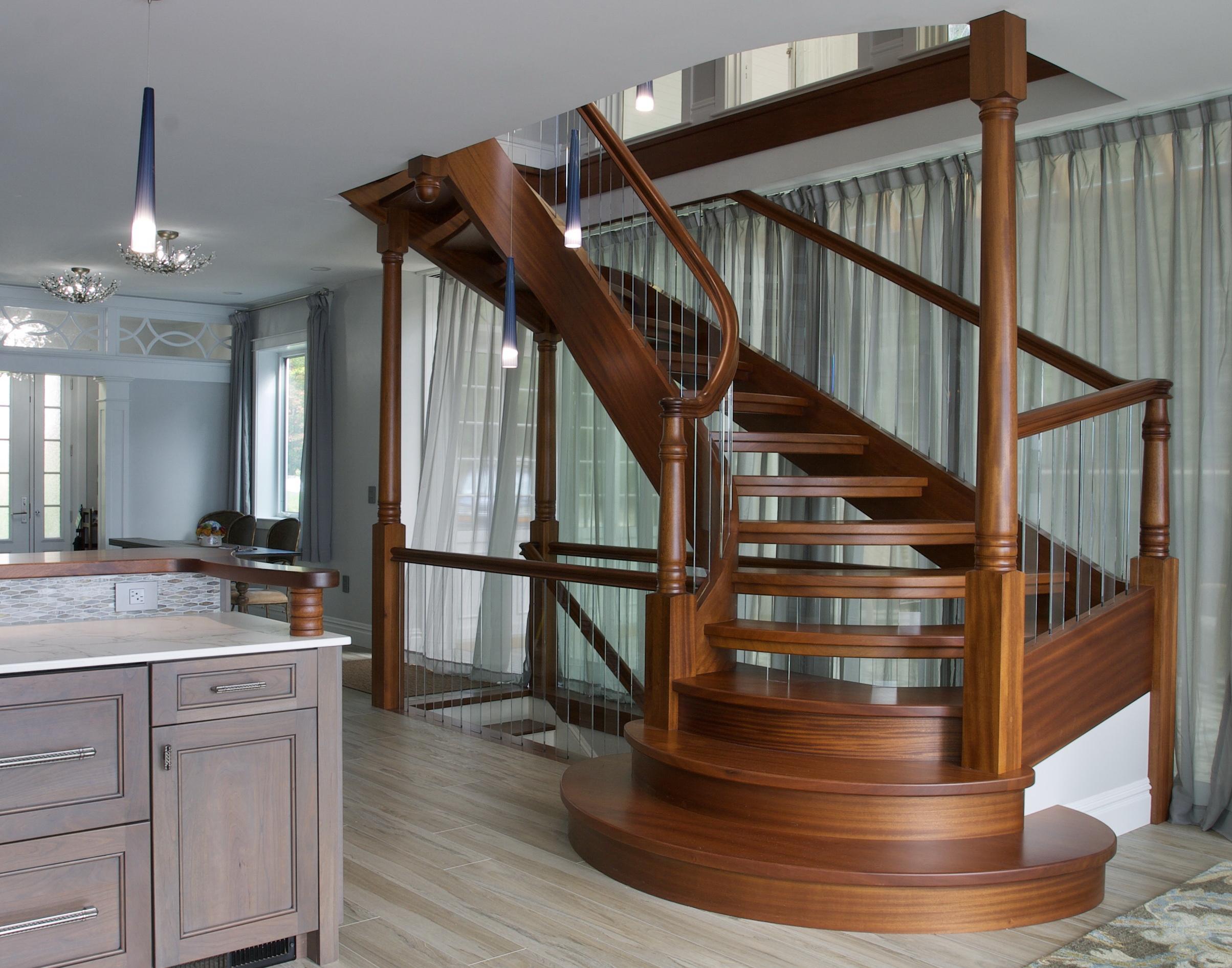 13 - Best Curved Stairway-Modern