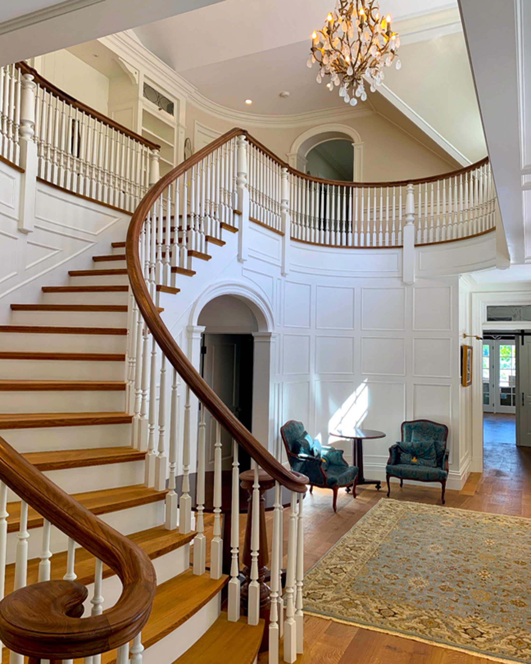 16 - Best Curved Stairway-Traditional