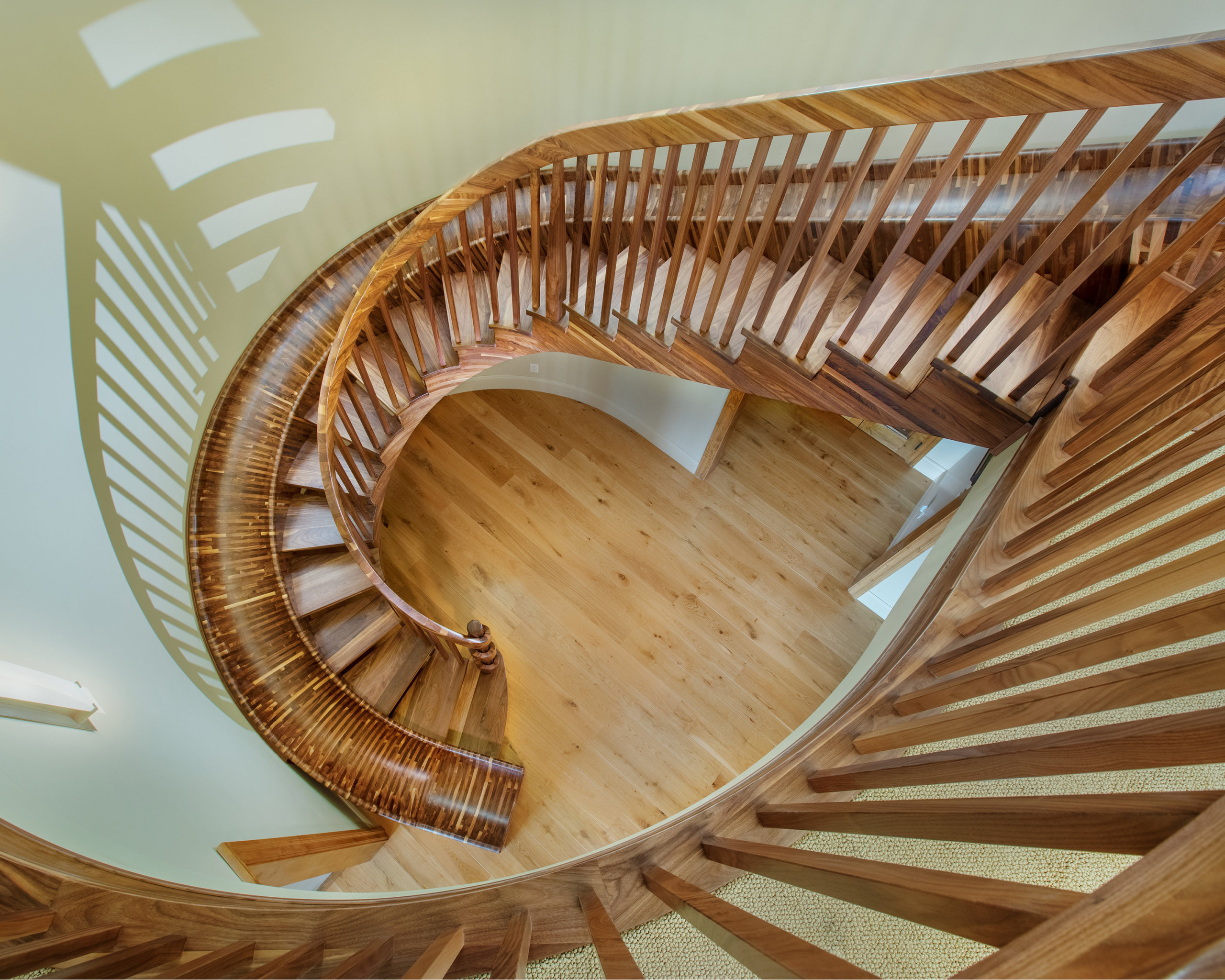 17 - Best Curved Stairway-Traditional